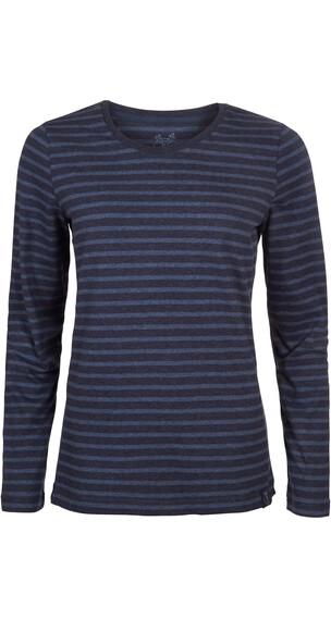Elkline Hummel Longsleeve Shirt Women Bluemelange-Blueshadow